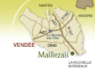 carte interactive de la vendée